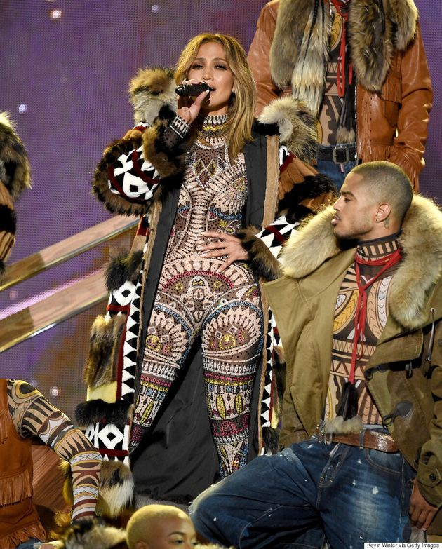 Jennifer Lopez Wears DSquared2's Controversial 'DSquaw' Collection At The