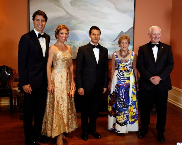 Sophie Grégoire Trudeau Glistens In Gold At State Dinner In Honour Of Mexican