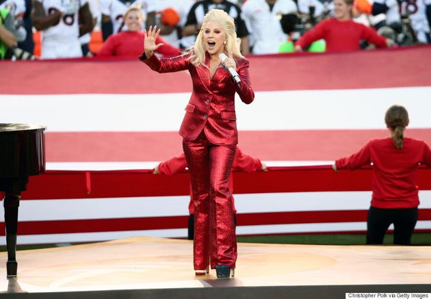 Lady Gaga's Super Bowl 50 National Anthem Outfit Makes America