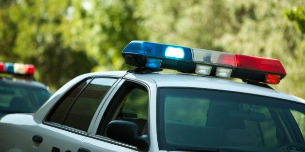USA, police car with lights