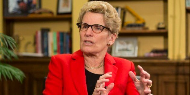 TORONTO, ON - APRIL 10: Ontario Kathleen Wynne sits in her office with Star Queen's Park reporter Martin...