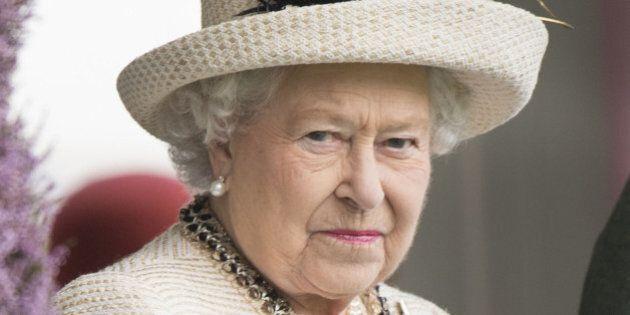 BRAEMAR, SCOTLAND - SEPTEMBER 06: Queen Elizabeth II attends the annual Braemar Highland Games on September 6, 2014 in Braemar, Scotland. (Photo by Mark Cuthbert/UK Press via Getty Images)