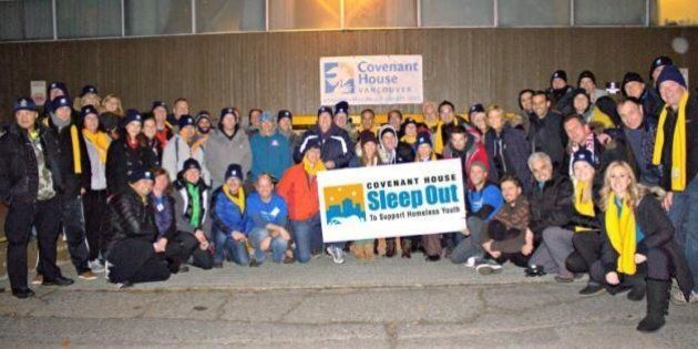 Vancouver Executives Sleep Out On The Street To Raise Money For Covenant