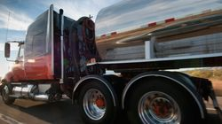 Truck Fire Closes Trans-Canada Near