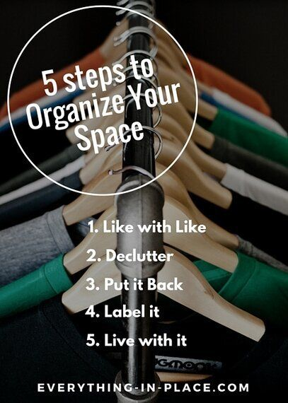 5 Steps To Organize Your