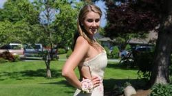 This Burlap Grad Dress Was