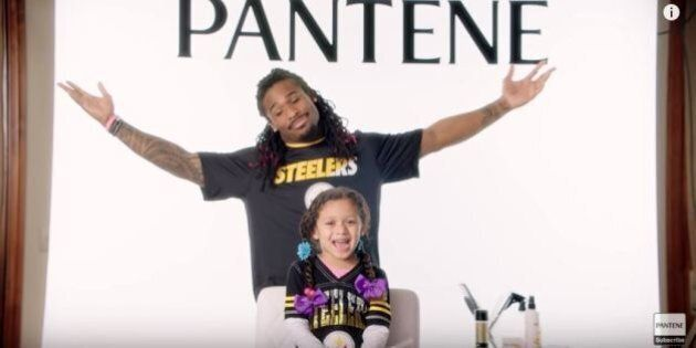 NFL Dads Commercial: Players Do Their Daughters' Hair Like