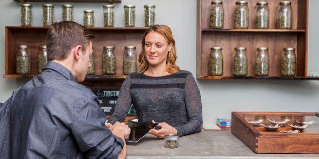 The small business proceedings of a local marijuana dispensary in Portland, Oregon.