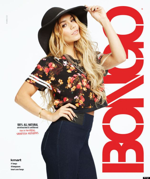 Vanessa Hudgens Goes Unretouched For Bongo