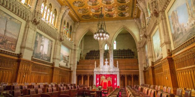 Centre Block at Parliament Hill - Ottawa, Ontario, Canada