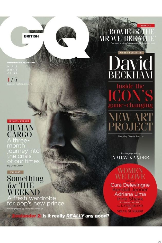 David Beckham Gets 5 Covers Of British GQ's March