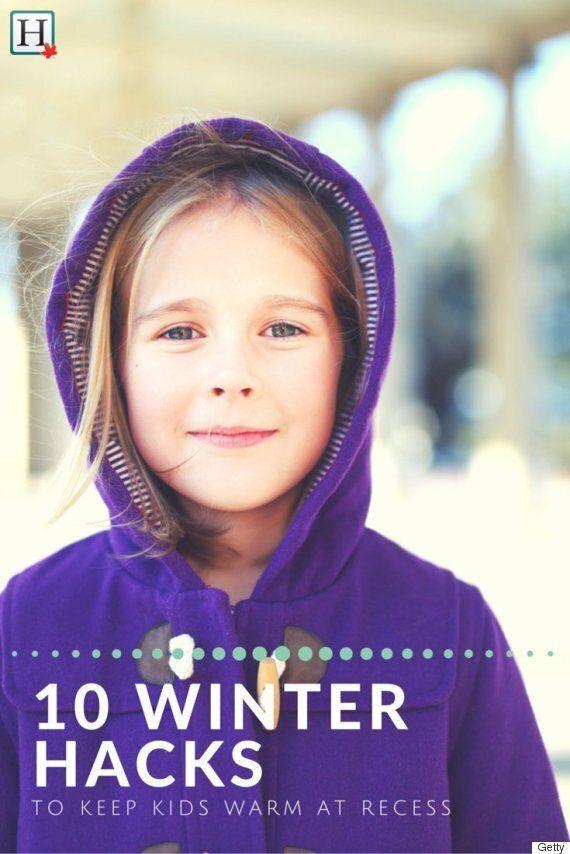 Winter Hacks To Keep Kids Warm At Recess In Sub-Zero