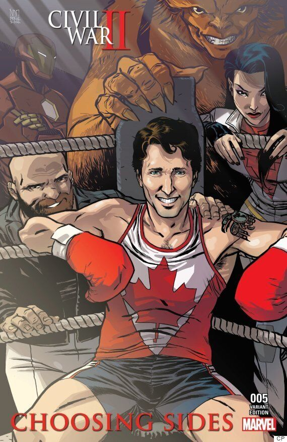 Justin Trudeau Comic Book Cover To Feature PM With Canadian