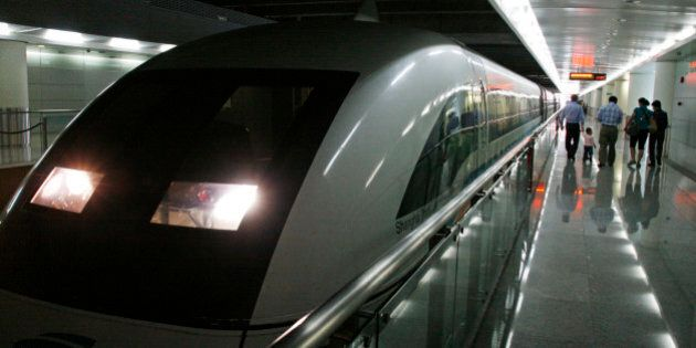 China, Shanghai. Maglev Train in Shanghai Pudong