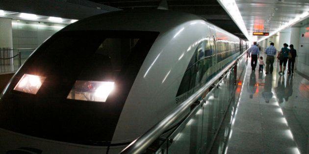 China, Shanghai. Maglev Train in Shanghai Pudong Airport