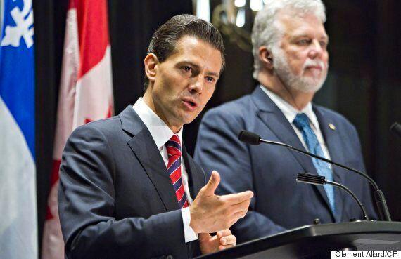 Enrique Pena Nieto's Warm Reception From Quebec Premier Irks Amnesty