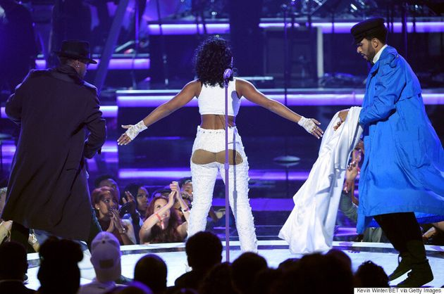 Janelle Monáe Shows Off Bare Butt Cheeks During Prince Tribute At BET