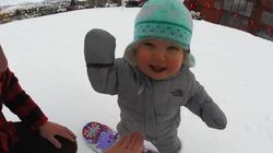 One-Year-Old Snowboarder Has Already Mastered The
