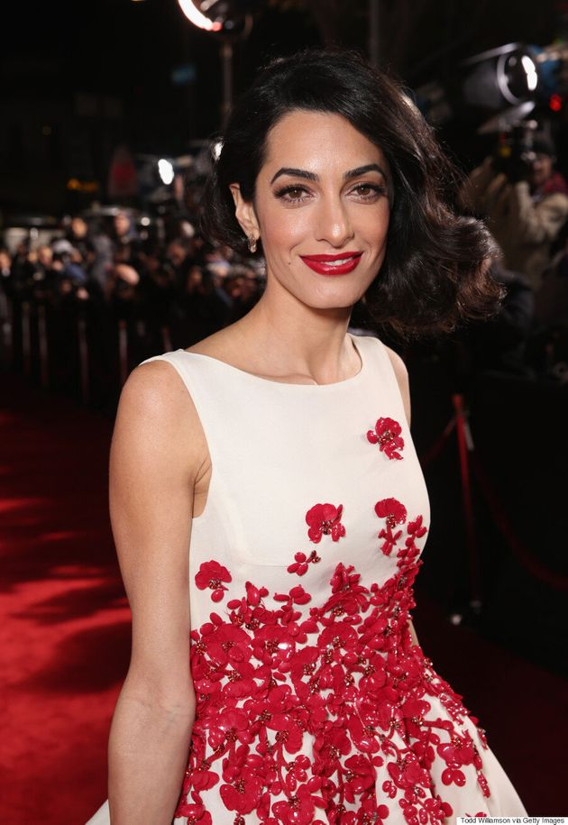 Amal Clooney Steals The Show On 'Hail, Caesar!' Red
