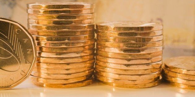 Stacks Of Canadian One Dollar