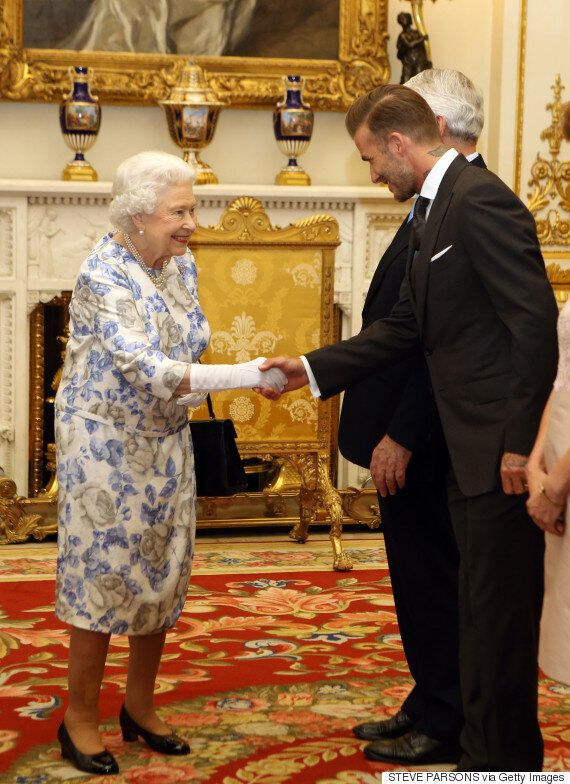 A Dapper David Beckham Brings A Smile To Queen Elizabeth's