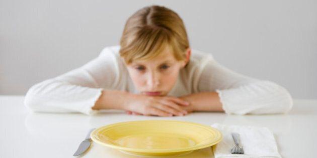 Teenaged girl looking at empty