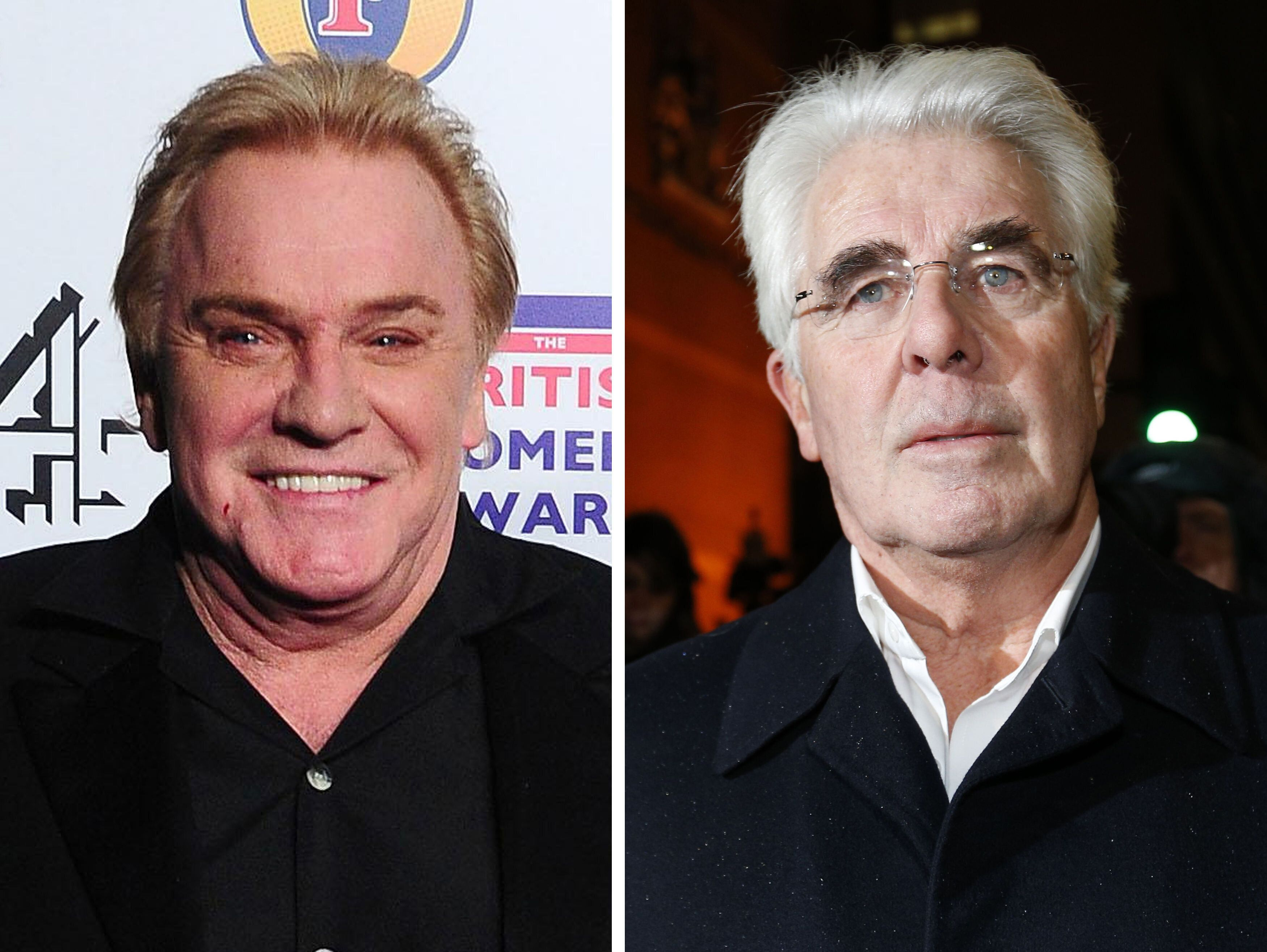 Freddie Starr (left) and Max Clifford.  (Photo by Ian West/PA Images via Getty Images)