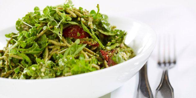 Pesto soba noodles gluten free