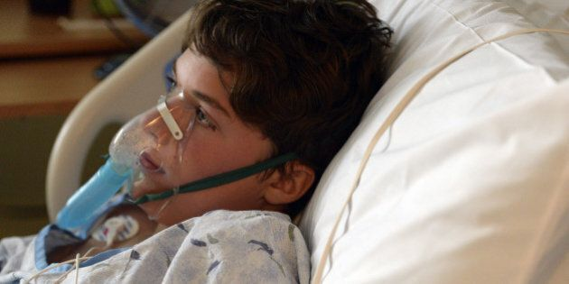 DENVER, CO - SEPTEMBER 5: 13-year-old Will Cornejo is recovering at Rocky Mountain Hospital for Children...