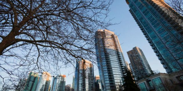 Luxury condo's along coal harbour in Vancouver,BC.