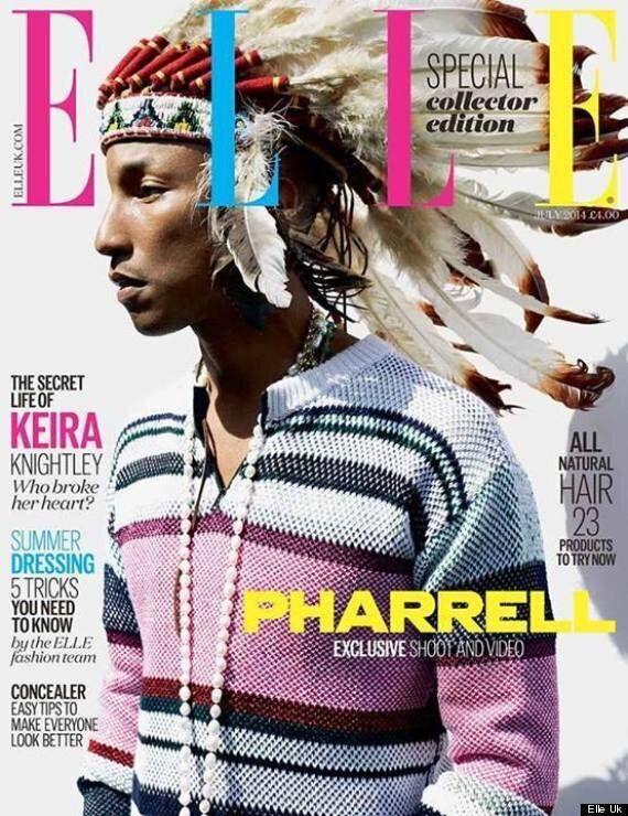 Pharrell's Native Headdress On Elle UK Cover Angers Indigenous People (PHOTOS,