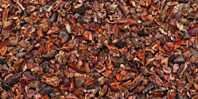 Raw Organic Cacao Nibs Crushed From Coca Beans