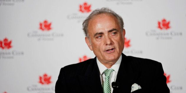 Calin Rovinescu, president and chief executive officer of Air Canada, speaks at the Canadian Club in...