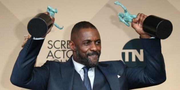 LOS ANGELES, CA - JANUARY 30: Actor Idris Elba, winner of Outstanding Performance by a Male Actor in...