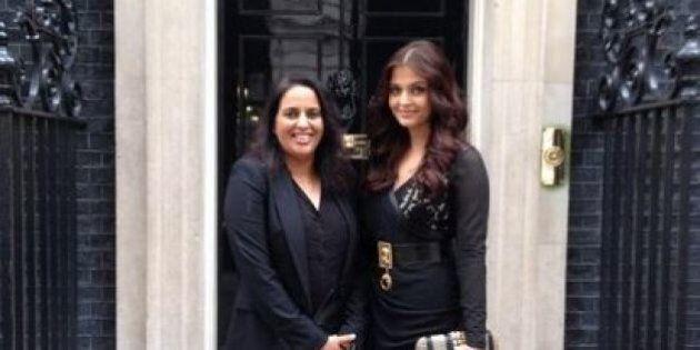 Aishwarya Rai Stuns In Black And Gold Dress At Charity