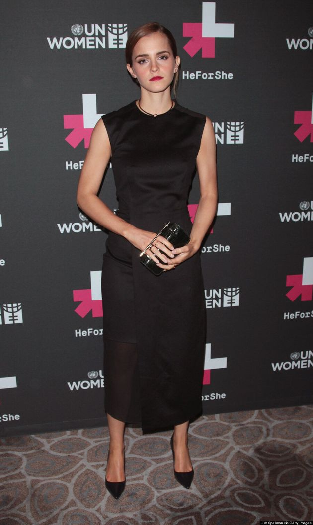 Emma Watson Is A Total Boss In Silk Dior At United