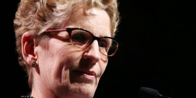 TORONTO, ON - MARCH 20: Premier Kathleen Wynne gives speech at a major fundraiser for the Liberals. She...