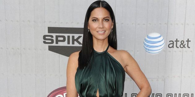 LOS ANGELES, CA - JUNE 07: Actress Olivia Munn attends Spike TV's 'Guys Choice' Awards at Sony Studios...