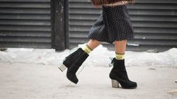 Here's How To Pair Winter Boots With Skirts And