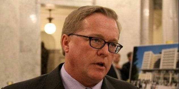 Friends of Medicare Executive Director David Eggen at the 2011 Speech from the Throne. February 22,