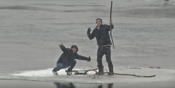 Teens Drifting On Ice Floe Are Totally Ungrateful During Rescue In
