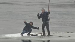 Teens Drifting On Ice Floe Are Totally Ungrateful During