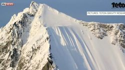 WATCH: Canadian Pro Skier Miraculously Survives 488-Metre