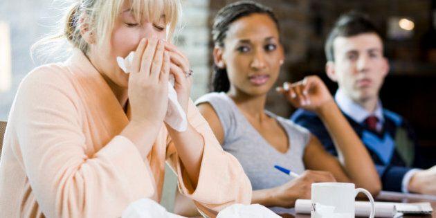woman sick at