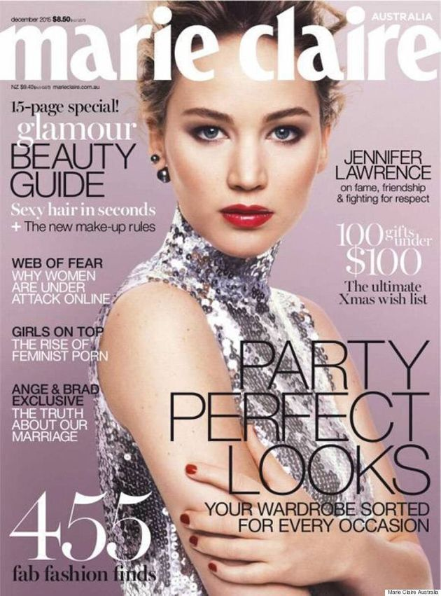 Jennifer Lawrence Stuns In Calvin Klein On December Cover Of