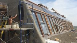 LOOK: Off-The-Grid 'Earthship' Takes Off On Alberta