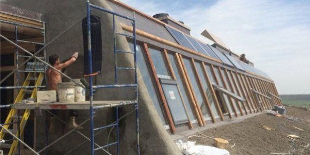 'Earthship' Takes Shape On Alberta Prairie