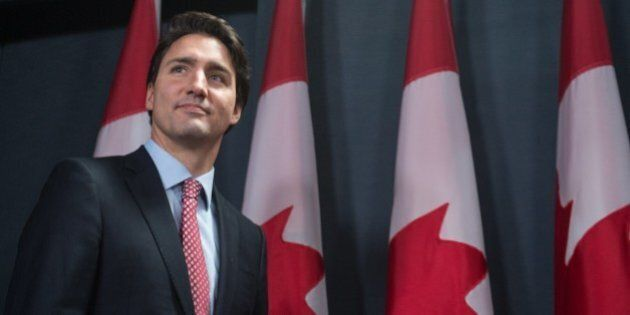 Canadian Liberal Party leader Justin Trudeau arrives to give a press conference in Ottawa on October...