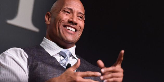 NEW YORK, NY - NOVEMBER 09:  Actor Dwayne 'The Rock' Johnson speaks onstage during 'The Next Intersection For Hollywood with William Morris Endeavor's Ari Emanuel, Patrick Whitesell and Dwayne 'The Rock' Johnson' at the Fast Company Innovation Festival on November 9, 2015 in New York City.  (Photo by Ilya S. Savenok/Getty Images for Fast Company)