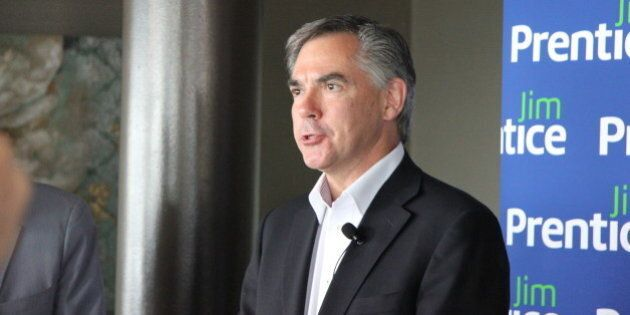 Jim Prentice, candidate for the leadership of the Progressive Conservative Association of Alberta (on...
